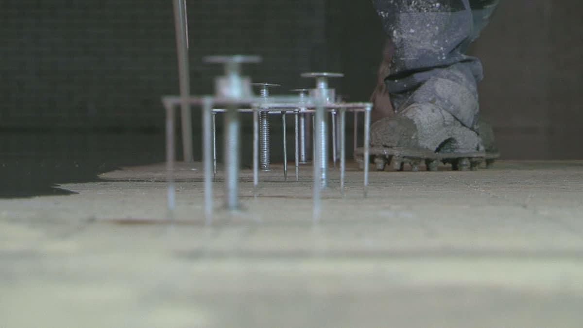 Vlakke vloer geegaliseert