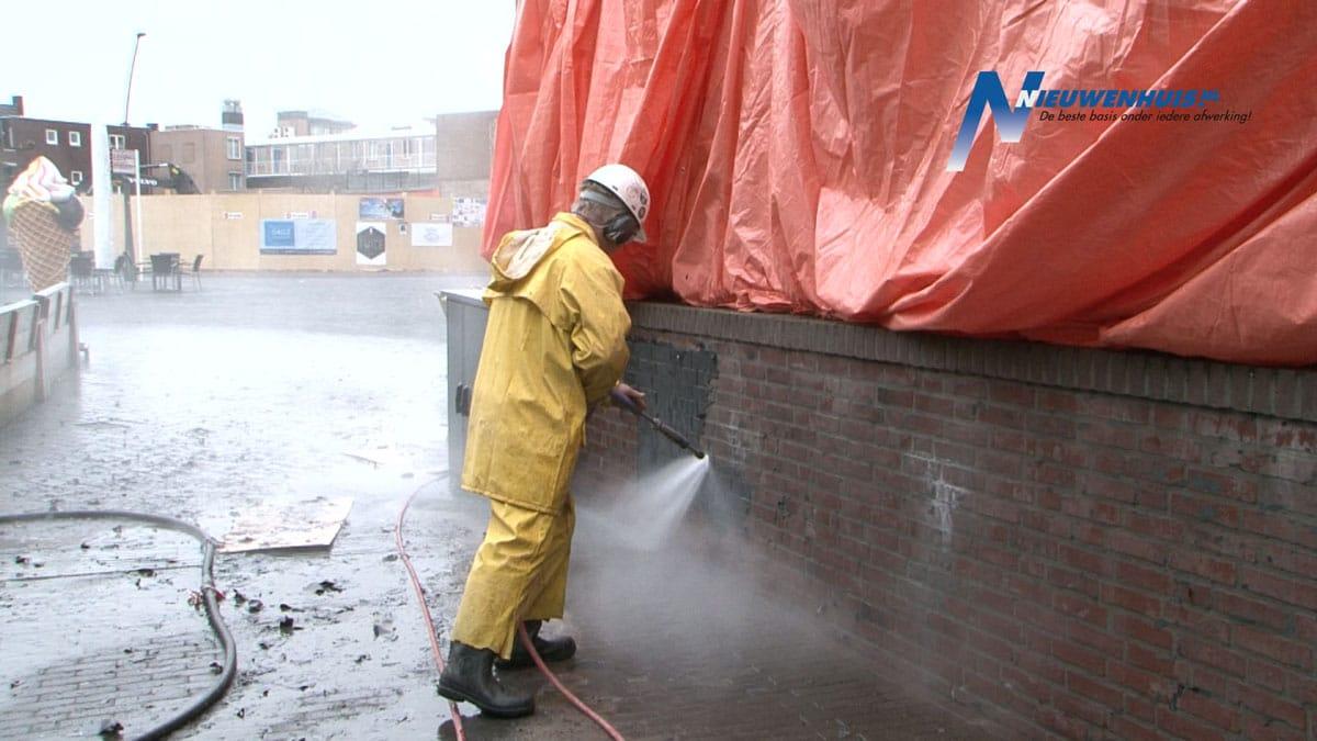 Verwijderen vuil door Nieuwenhuis